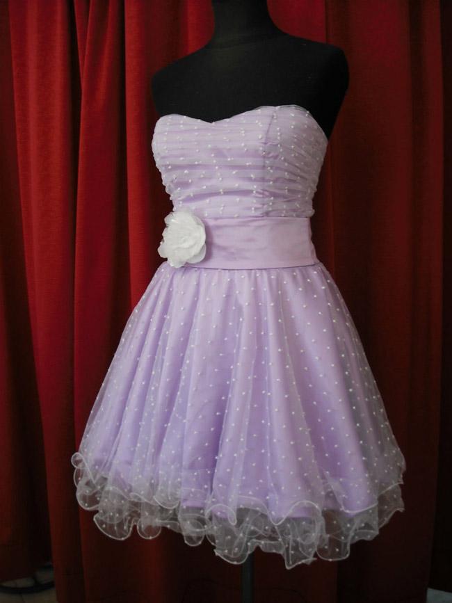 Vestido 15 Corto Color Lila.
