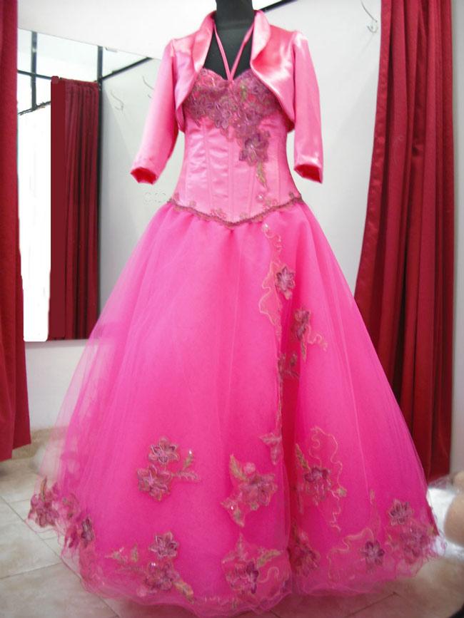 Vestido Con Flores Y Bustier Emballenado