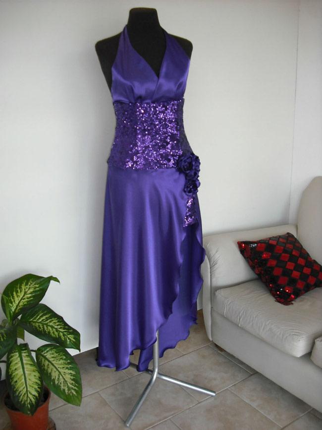Vestido Con Lentejuelas Escote Halter