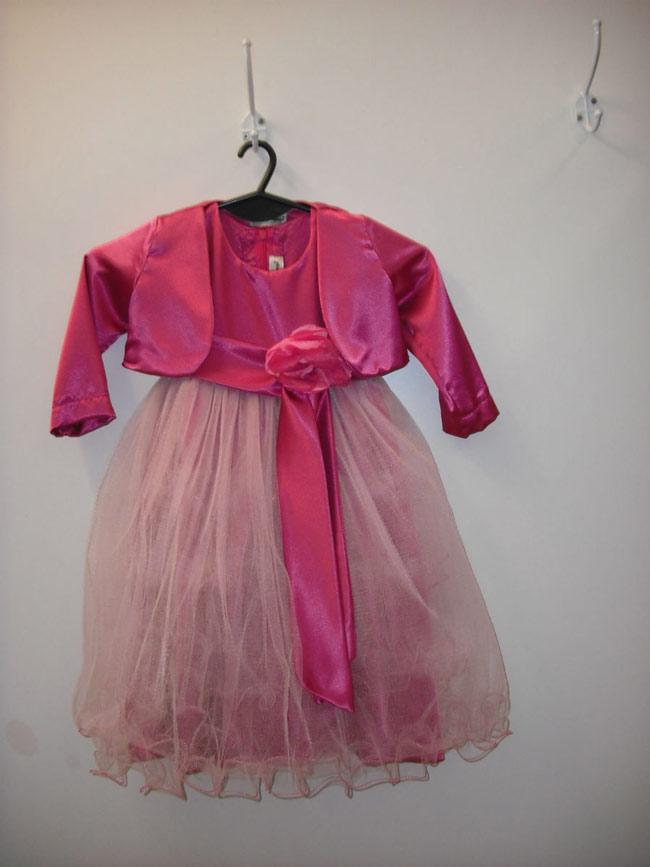 Vestido Nena, Falda Con Tules Y Lazo Con Flor.
