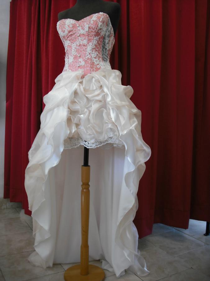 Vestido De 15 Natural Y Rosa Dior