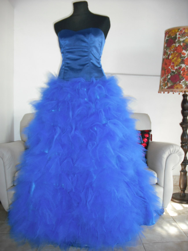 Vestido De 15 Azul Largo