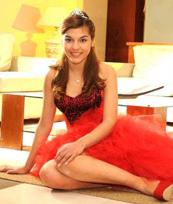Elegir vestido de 15-Color Rojo
