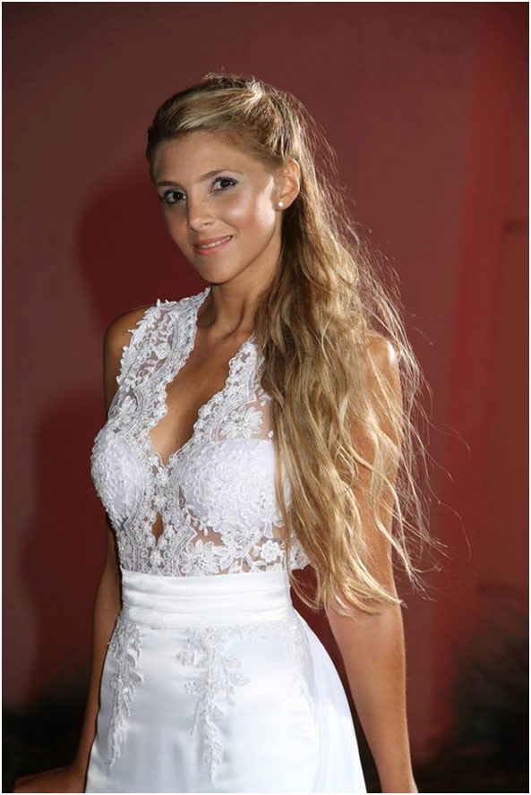 Vestido Novia Sirena-Escote Ilusión